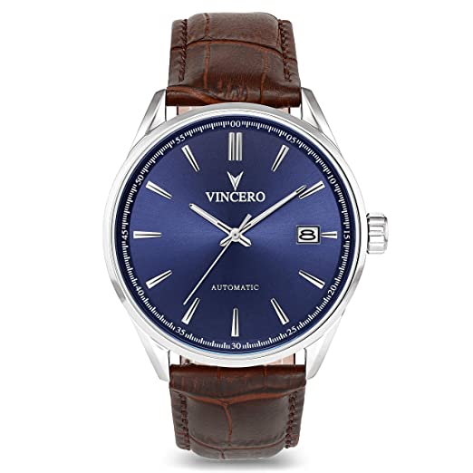 Vincero Kairos - Reloj de pulsera automático para hombre con correa de piel italiana - 42 mm - Citizen Miyota automático: Amazon.es: Relojes