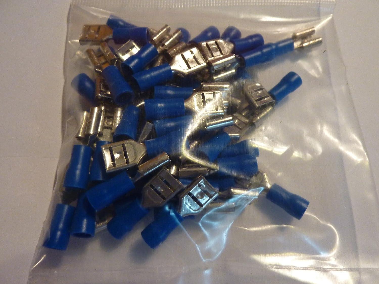 Profitec 50/x Terminal Spade connectors for Cables 1.5/ /2.5/mm/² Blue 6.4/mm