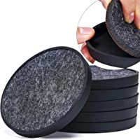 Drink Coasters Set of 6 Absorbing Felt Pads Coupled with Silicon Tray - 4.3 inch X Large Mat Protect Table From Scratch…