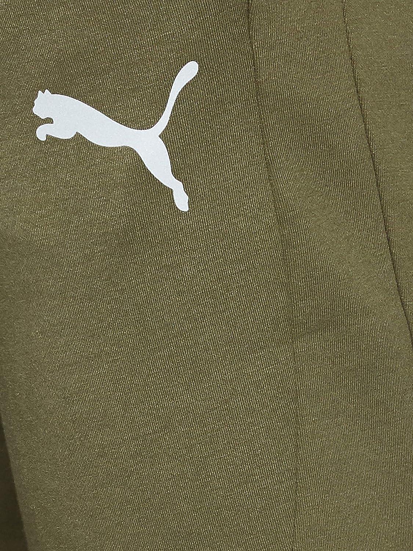 PUMA Tessuto in Cotone Verde con Logo Grigio