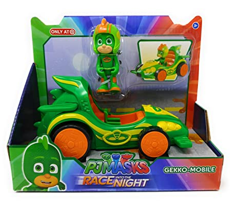 EXCLUSIVE Disney Junior PJ Masks - RACE INTO THE NIGHT GEKKO-MOBILE Vehicle