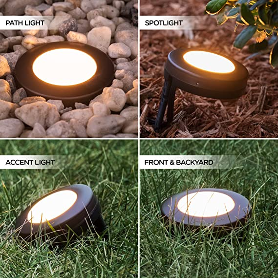 Landscape Lighting Perfection Of Yards Amazon.com : Enbrighten 41015 Seasons LED Landscape Lights (80ft.),  Selectable White u0026 Color Changing, 9 Lifetime Pucks, Wireless Remote,  Outdoor, ...