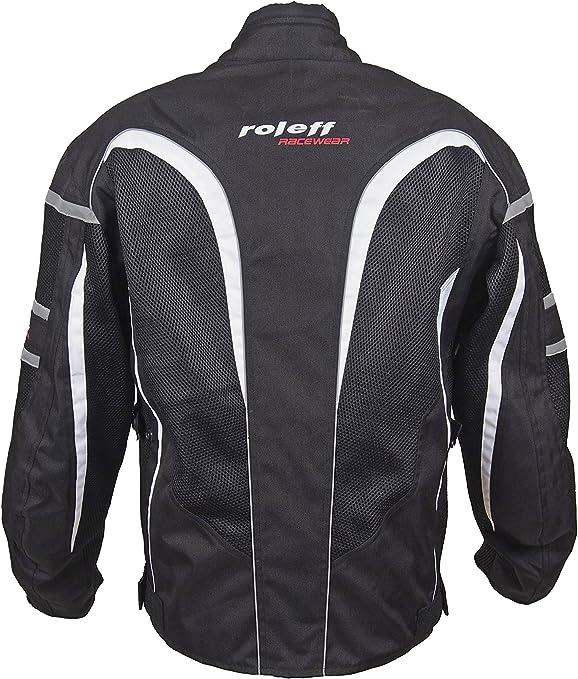 Roleff Racewear Ro607 Kurze Mesh Sommer Motorradjacke Schwarz Größe 3xl Auto