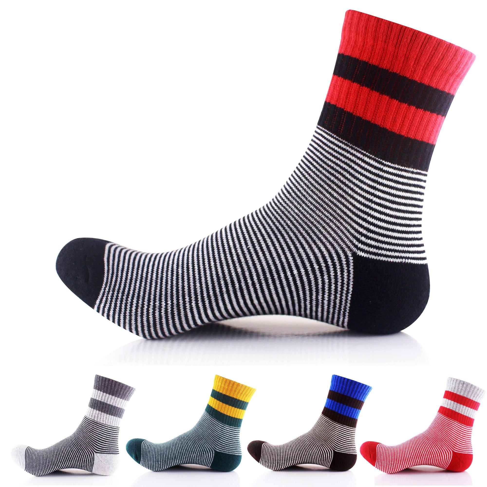 Men's Cotton Quarter Athletic Sock 5 Pairs(Assorted Color)