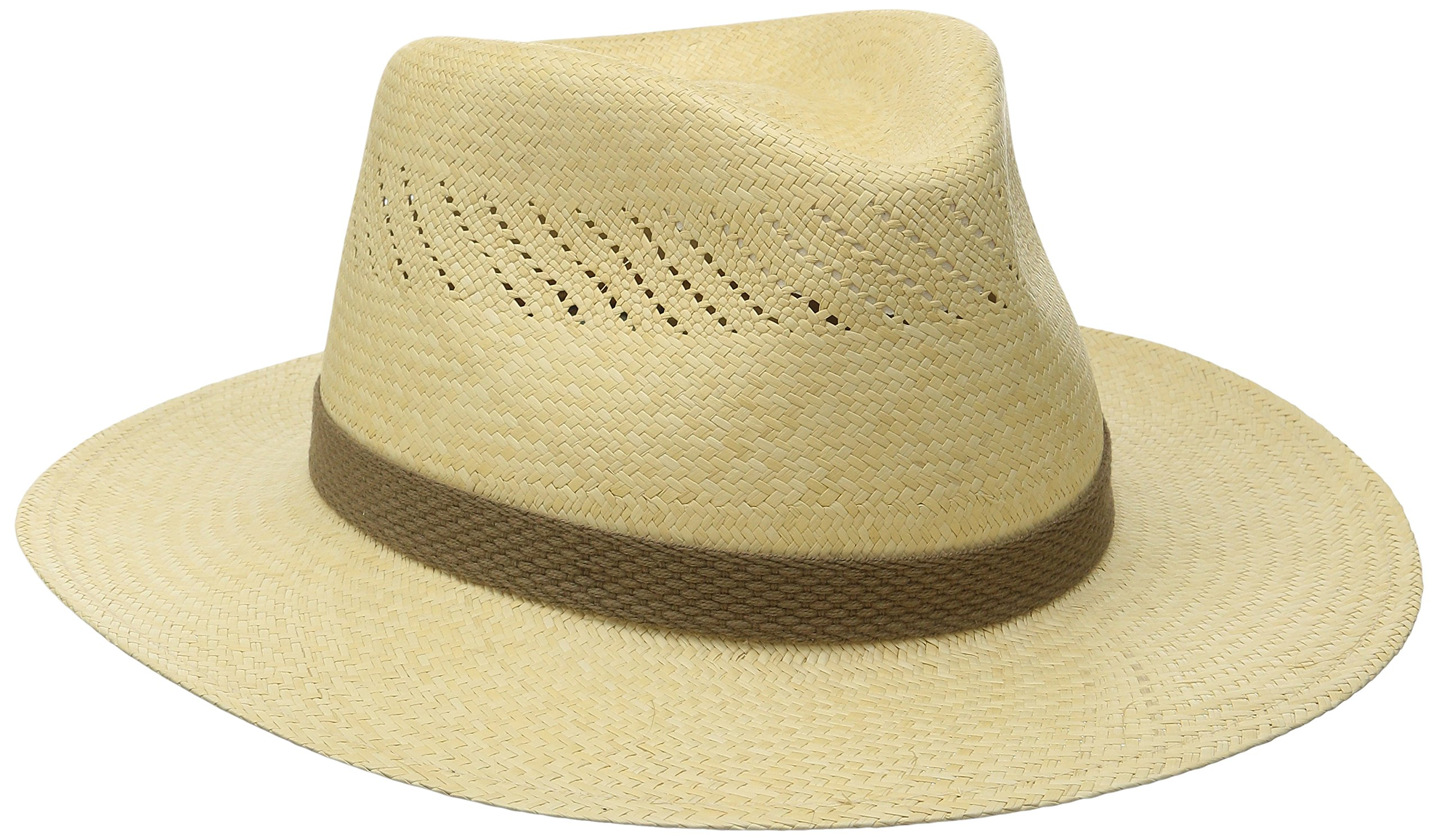 Tommy Bahama Men's Panama Vent Outback Hat, Natural, XX-Large