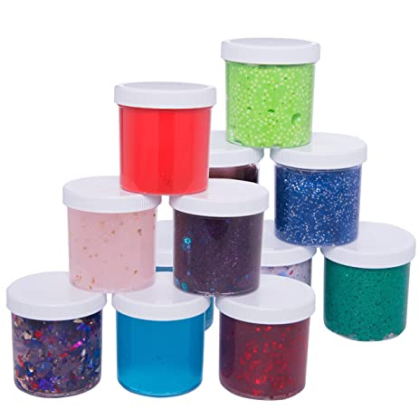 Slime Storage Jars 6oz (12 Pack)   Maddie Raeu0027s Clear Containers For All  Your