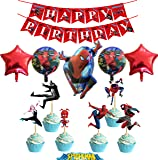 Spiderman Party Favors Sets for Boys and Girls Birthday Party Decorations - 3 Categories, Including 1 Set of Birthday…