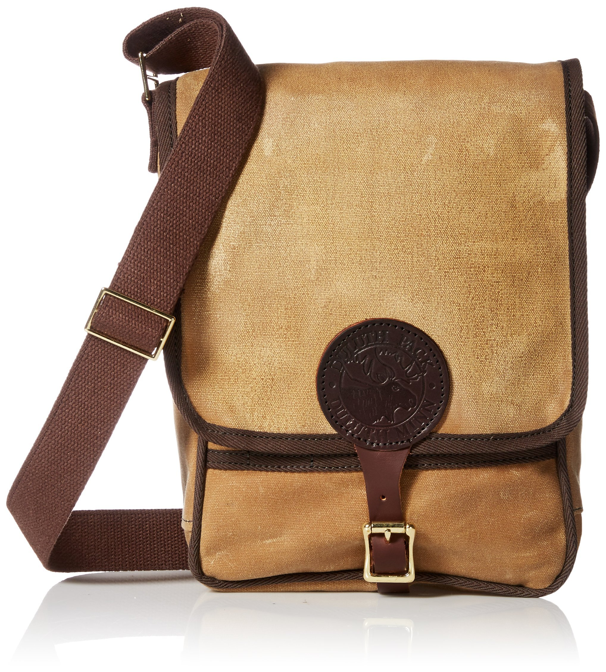 Duluth Pack Haversack with Cotton Web Trim, Tan, 11 x 8 x 4-Inch