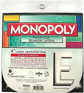 Eureka Monopoly Deco Letras (845154): Amazon.es: Oficina y papelería