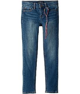 Lucky Brand Girls Ada Wash 5-Pocket Ruffled Bottom Zoe Skinny Jeans