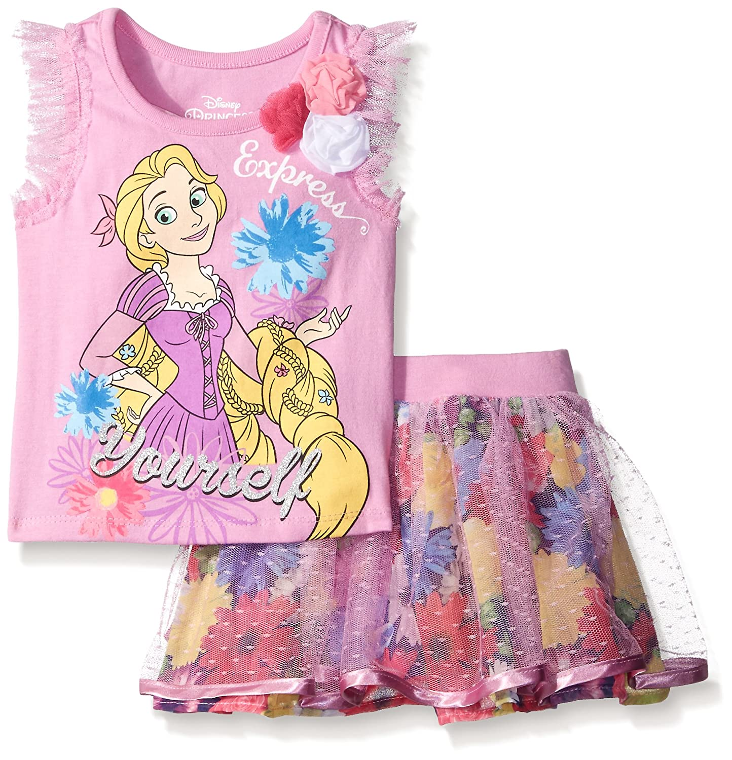 Amazon.com: Disney Niñas 2 pieza Rapunzel patinete Set: Clothing