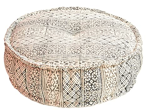 Amazon.com: MARUDHARA Kilim Durry Pouf de tela de 24 x 8 ...