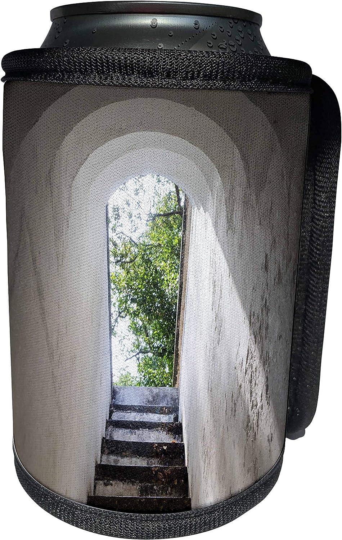 3dRose Danita Delimont - Stairway - Singapore, Fort Canning Park, bunker entranceway - Can Cooler Bottle Wrap (cc_257290_1)