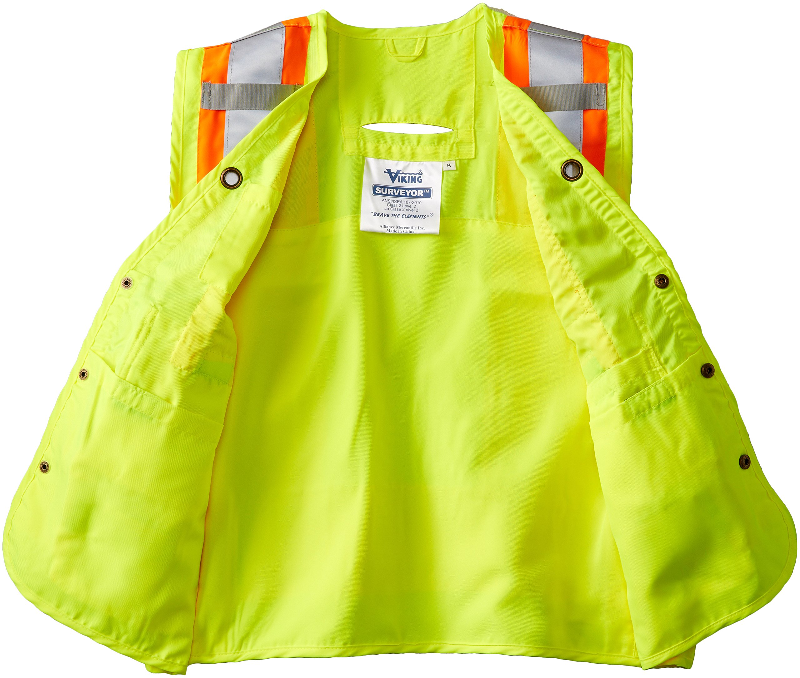 Viking Surveyor Hi-Vis Safety Vest, Green, XX-Large by Viking (Image #3)