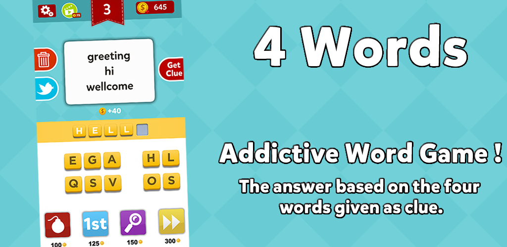 amazon com 4 words clues word association game appstore for android