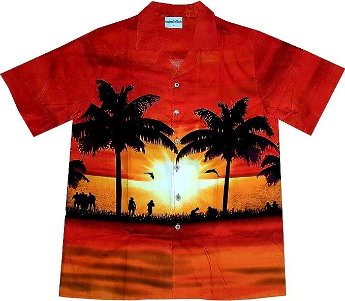 "black 6XL 100/% cotton S Men/'s Hawaiian Shirt /""Hawaiian Parrots/"" Parrot"