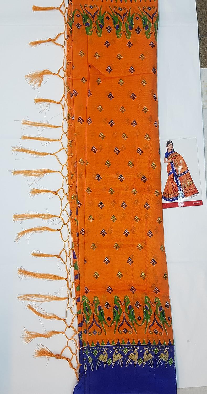 697644bb1d Sri Narsingh Cloth Emporium Silk Saree With blouse piece  Amazon.in   Clothing   Accessories