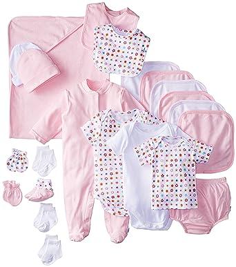 bcf3c04f9 Amazon.com: Gerber Baby Girls' Newborn 22-Piece Pink Gift Set, White ...