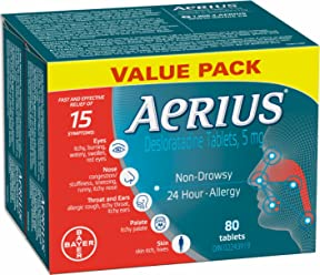 Aerius 5mg, 80 Count