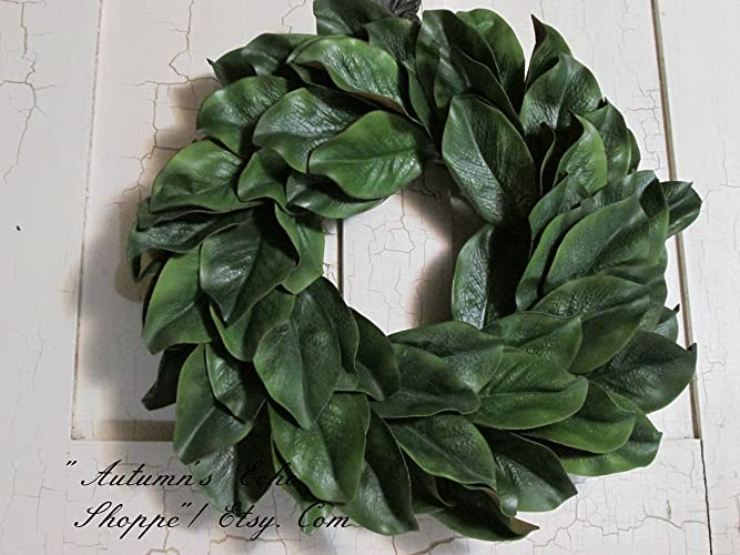 Amazon Com Magnolia Wreath Faux Magnolia Door Decor Handmade