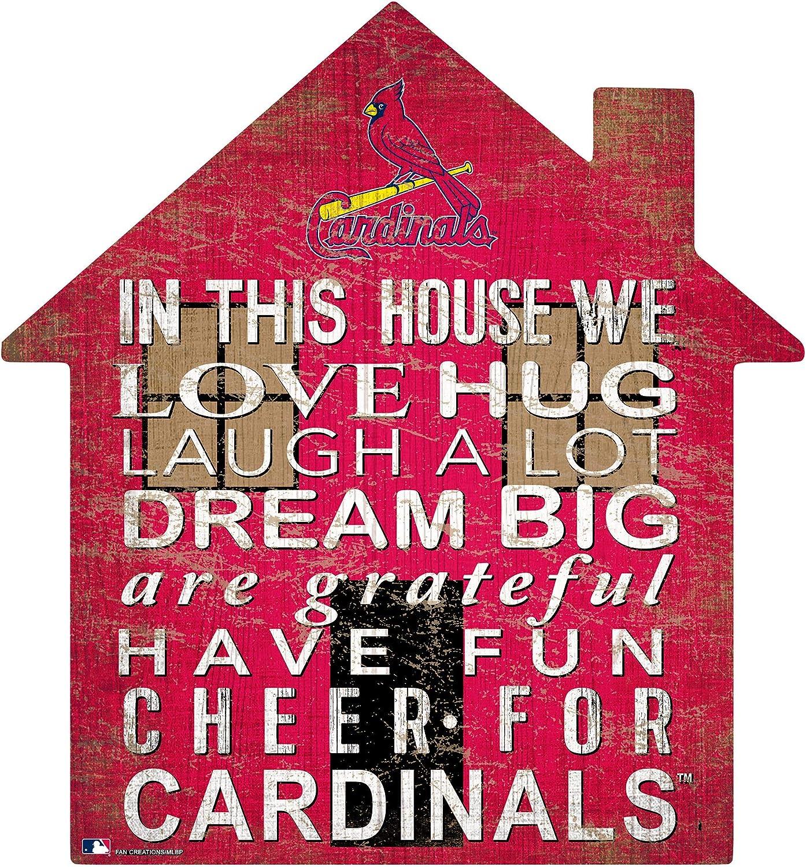 Fan Creations MLB St. Louis Cardinals Unisex Saint (St.) Louis Cardinals House Sign, Team Color, 12 inch