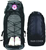 POLESTAR Flyer Black 55 ltrs Rucksack for Hiking Trekking/Travel Backpack