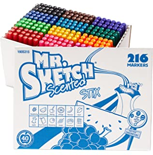 Set of 22 Assorted Colors Sketch Scented Markers Mr