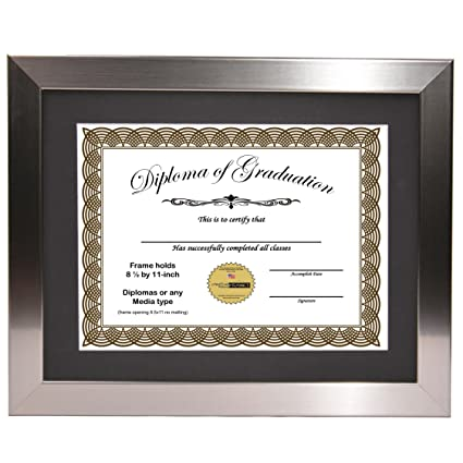 Amazon.com - CreativePF [11x14ss] Stainless Steel Finish Diploma ...