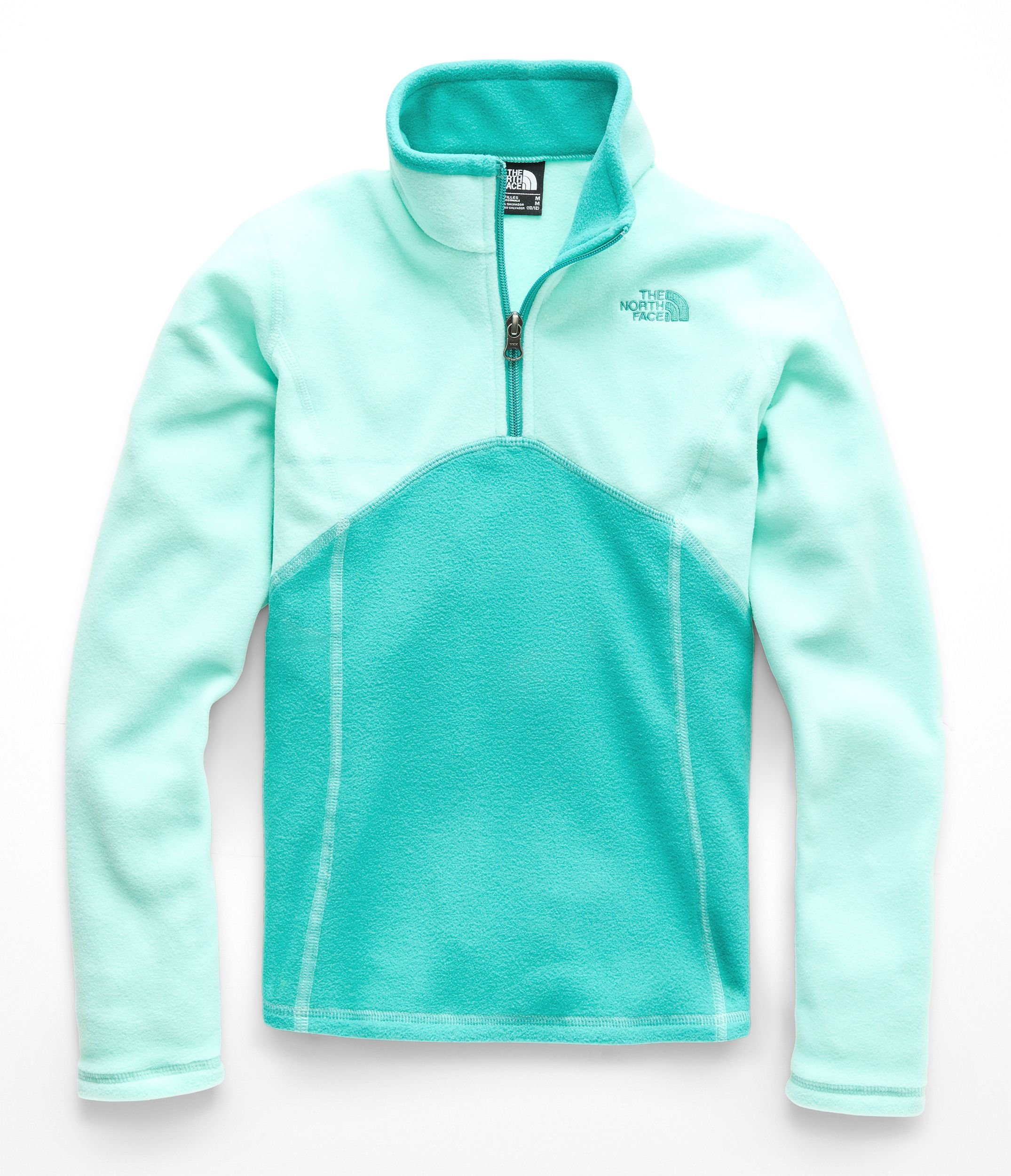 The North Face Girls Glacier 1 & 4 Zip - Mint Blue - M
