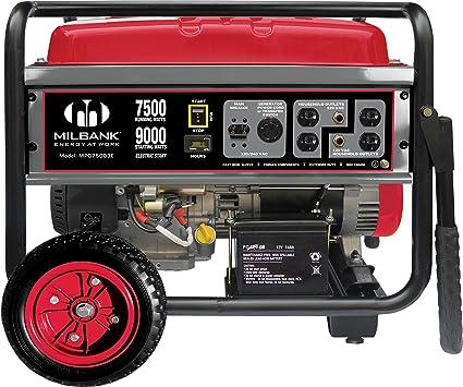 Amazon.com: Milbank mpg75003e Generador portátil con ...