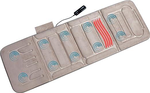 Relaxzen 10-Motor Massage Standard Mat with Heat