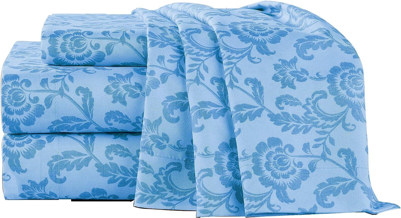 Scroll Leaf Design Cadence Sheet Set Polyester Machine Washable
