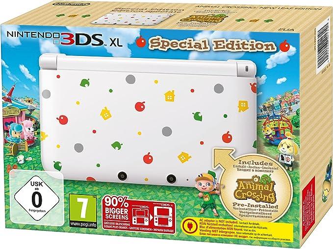 Nintendo 3DS XL - Konsole, Weiß + Animal Crossing (Vorinstalliert ...