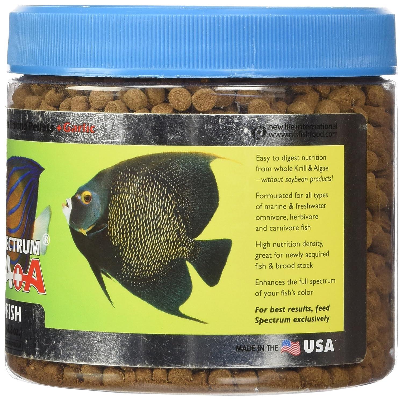 Herbivorous freshwater aquarium fish - Amazon Com New Life Spectrum Thera A Jumbo 6mm Sinking Salt Freshwater Pet Food 250gm Pet Supplies