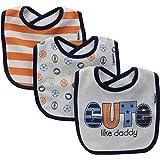 Gerber Baby Boys' 3 Pack Terry Dribbler Bibs