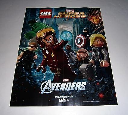aae204359f26 Amazon.com  LEGO Marvel THE AVENGERS Promo Poster Thor Iron Man Hulk ...
