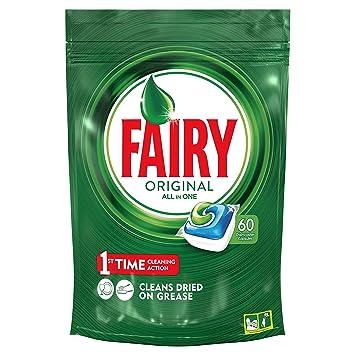 Fairy Original Todo En 1 - Cápsulas De Lavavajillas Pack De 60 ...