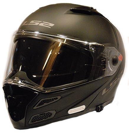 Amazon.com: LS2 Helmets Metro V3 Unisex-Adult Flip-Up-Helmet-Style Metro V3 Helmet (Matt Black, Medium): Automotive