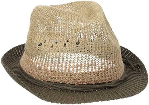57fae8cb044dc San Diego Hat Company Women s Crochet Contrast Knit Fedora Hat ...