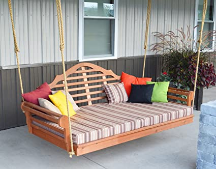 Beau Aspen Tree Interiors Best Porch Swing Bed, Outdoor Swinging Daybed, Patio  Day Bed Swings