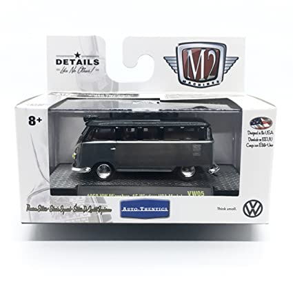 2adc13c9a1 M2 Machines 1958 VW Microbus 15 Window U.S.A. Model (Gloss Black and Dark  Gray Metallic