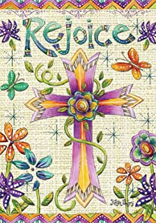 Amazoncom He Is Risen Easter Garden Flag Religious Jesus 125