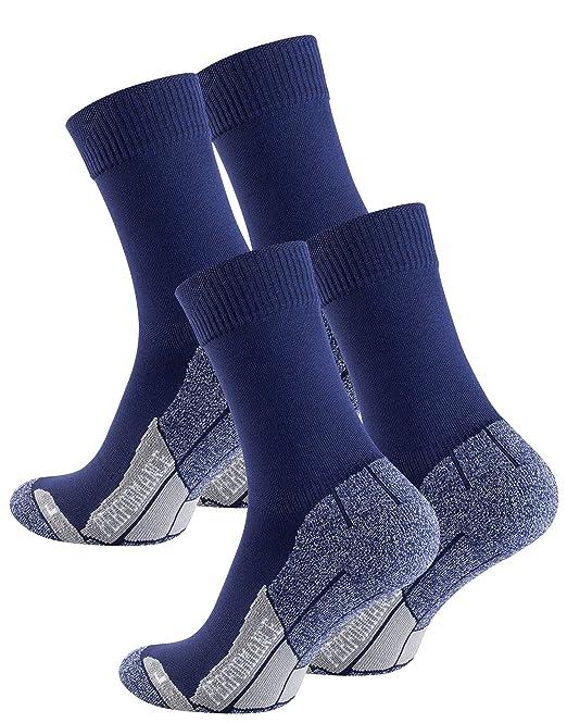2 pares de calcetines para senderismo unisex, Suela de rizo, Gran calidad (35