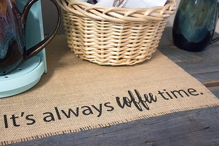Coffee Maker Mat - Burlap Placemat for your Keurig