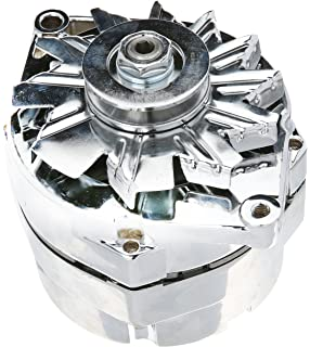 new chrome chevy alternator fits 110 amp 3 wire or 1 one. Black Bedroom Furniture Sets. Home Design Ideas