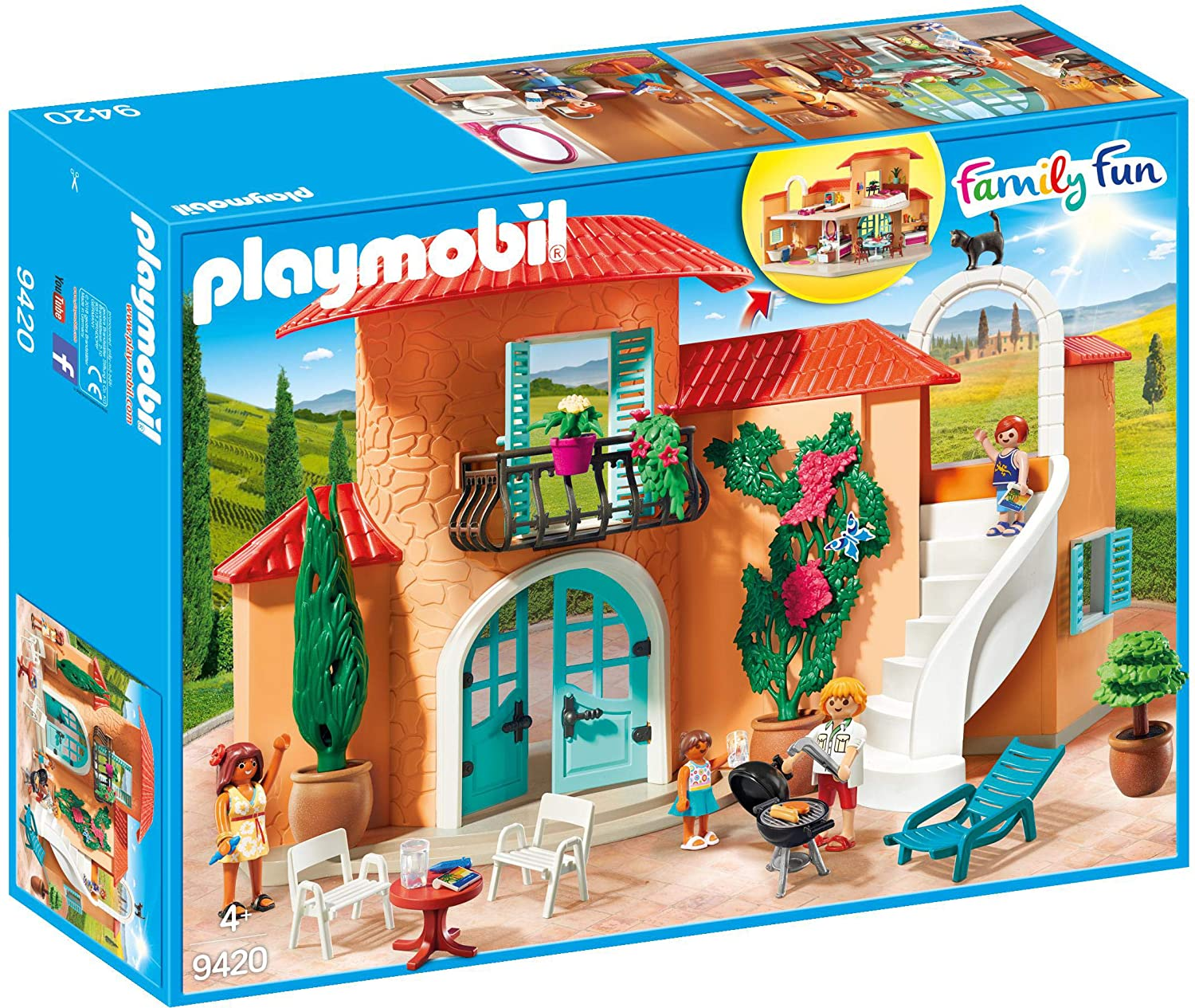 Playmobil Family Fun 9420 Summer Villa For Children Ages 4