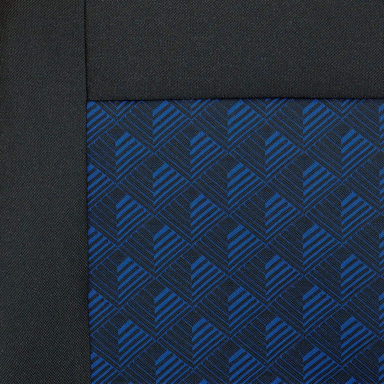 Zakschneider Housses De Si/ège pour Renault Trafic Couleur Premium Noir avec Effet 3D Bleu Housse Avant Si/ège du Conducteur