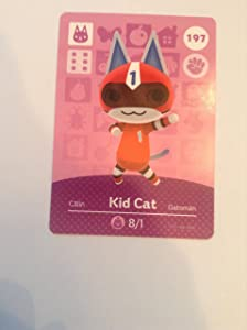 Nintendo Animal Crossing Happy Home Designer Amiibo Card Kid Cat 197/200 USA Version