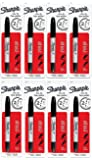 Sharpie Twin Tip Fine Point and Ultra Fine Point Permanent Markers, Black Marker [32101PP] Pack of 8