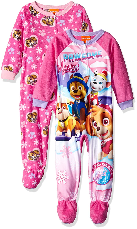 Nickelodeon Toddler Girls' Paw Patrol 2-Pack Fleece Blanket Sleeper 21WN259TBFDZ